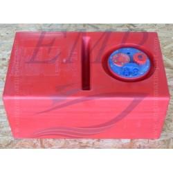 Serbatoio carburante CAN  orizzontale con divisorio 62 lt