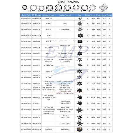 Girante Yamaha / Selva EMP 6H4-44352-00 ,01 ,02