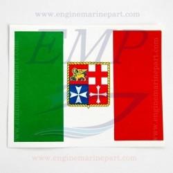 Adesivo bandiera italiana 120 x 160 in PVC lucido per imbarcazioni