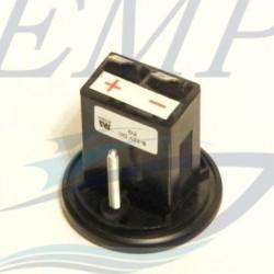 Contaore Admiral Plus black 0-10000 H