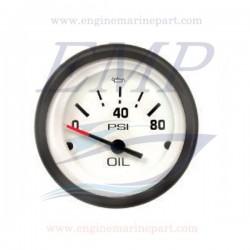Indicatore pressione olio Admiral Plus white 0-80 PSI