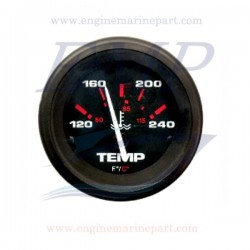 Indicatore temperatura acqua Admiral Plus Black 120-240 F°