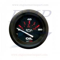 Indicatore pressione olio Admiral Plus Black 0-80 PSI