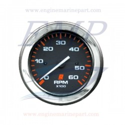 Contagiri Admiral Plus black chrome 0-6000 RPM