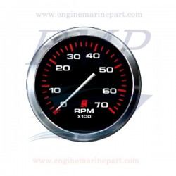 Contagiri Admiral Plus black chrome 0-7000 RPM