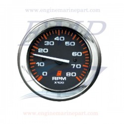 Contagiri Admiral Plus black chrome 0-8000 RPM