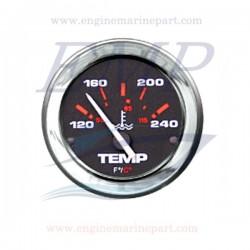 Indicatore temperatura acqua Admiral Plus black chrome 120-240 F°