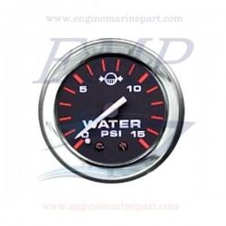Indicatore pressione acqua Admiral Plus black chrome 0-15 psi
