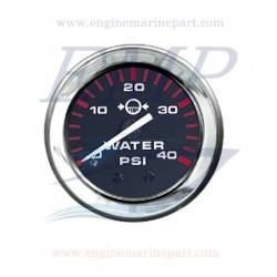 Indicatore pressione acqua Admiral Plus black chrome 0-40 psi
