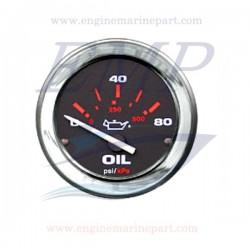 Indicatore pressione olio Admiral Plus black chrome 0-80 PSI