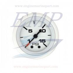 Indicatore pressione acqua Flagship Plus white 0-15 psi