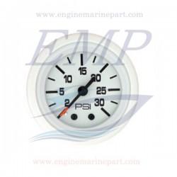 Indicatore pressione acqua Flagship Plus white 0-30 psi