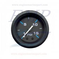 Indicatore pressione acqua Flagship Plus black 0-15 psi