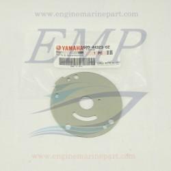 Piastrina in acciaio corpo pompa Yamaha 689-44323-02