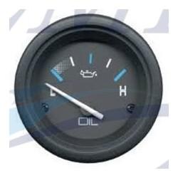 Indicatore pressione olio Flagship Plus black 1-15 PSI