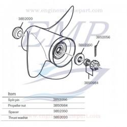 Elica 15 x 15 RH alluminio piede SX Drive Volvo Penta 3817466