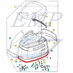 Guarnizione calandra Yamaha 6N7-42615-00