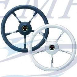 Timone Como 5 razze inox con grip morbido bianco Teleflex d. 360 mm
