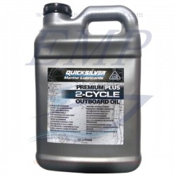 Olio Quicksilver miscela per motori fuoribordo a 2 tempi Premium Plus - 10 litri