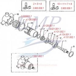 FNM 3.900.009.1 Kit Riparazione Pompa Acqua