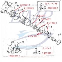 FNM 1.607.003.1 Pompa acqua completa