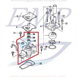 Base corpo pompa Honda 19240-ZY1-C20