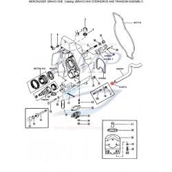 Raccordo ferma tubo acqua Mercruiser 41674 / T