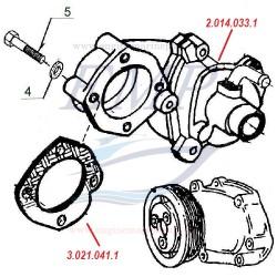 Pompa acqua centrifuga FNM 2.014.033.1