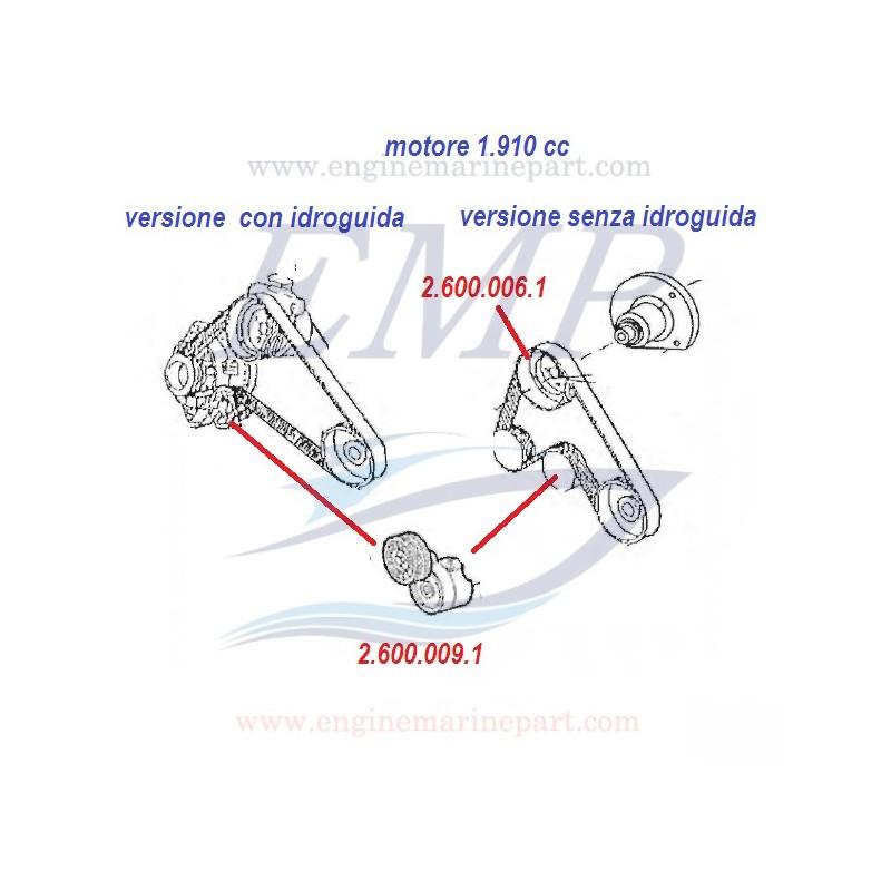 Cuscinetto tendicinghia 1910cc, 2387cc,  s / idroguida ,FNM 2.600.006.1