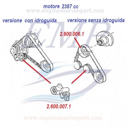Cinghia alternatore, 2387cc, c/idroguida,  FNM 4.130.021.1