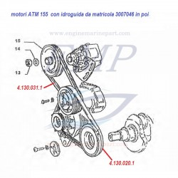 Cinghia idroguida ATM155, FNM 4.130.031.1