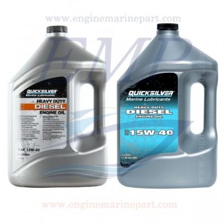 Olio Quicksilver per Motore Diesel uso pesante SAE 15W-40 4lt 8M0096794