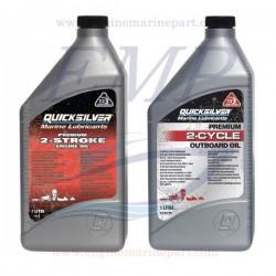 Olio miscela per motori fuoribordo a 2 tempi Quicksilver Premium 1lt