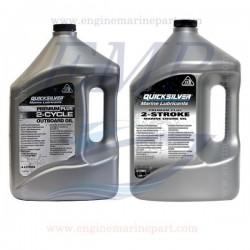 Olio Quicksilver miscela per motori fuoribordo a 2 tempi Premium Plus 4lt