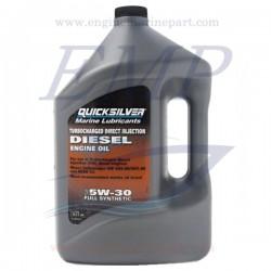 Olio Quicksilver sintetico TDI per motori diesel SAE 5W-30 4Lt