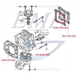 Guranizione coperchio punterie Honda 12391-ZVD-000