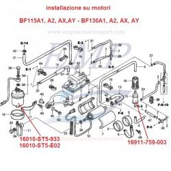 Filtro benzina motore Honda Marine  EMP 16911-759-003