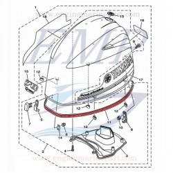 Guarnizione Calandra Yamaha, Selva 6CJ-42615-00