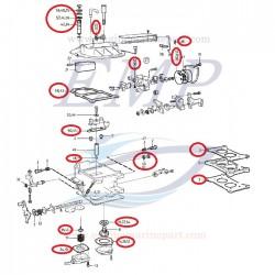 Kit riparazione carburatore Volvo Penta EMP 857343