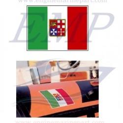 Bandiera adesiva italiana 160 x 240 gommata per gommoni