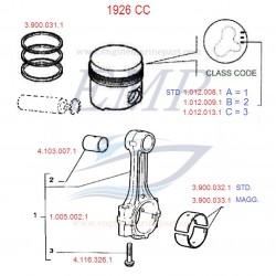 Boccola biella - spinotto pistone 1926cc FNM 4.103.007.1