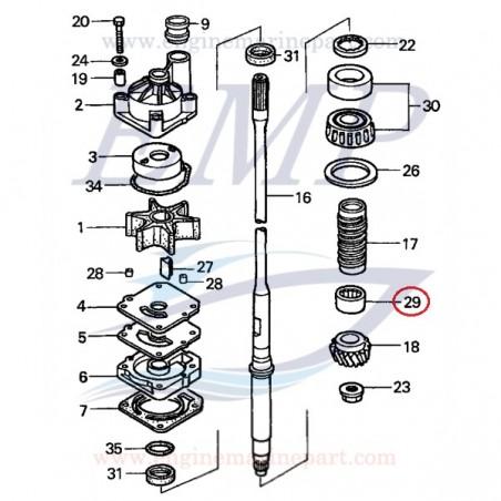 Cuscinetto asse trasmissione Honda 91052-ZW1-B02
