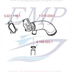 Guarnizione Riser di scarico1248cc FNM 3.021.116.1