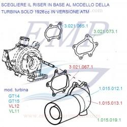 Riser di scarico 1698cc, 1926cc FNM 1.015.012.1
