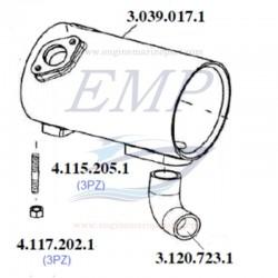 Carcassa scambiatore di calore 1910cc  FNM 3.039.017.1
