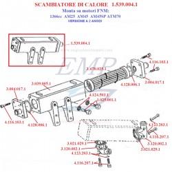 Ricambi per scambiatore di calore 1366cc 2 anodi FNM 1.539.004.1