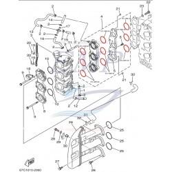 O-ring carburatore Yamaha, Selva 67C-14561-00