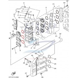 O-ring  carburatore Yamaha, Selva 67C-14562-00