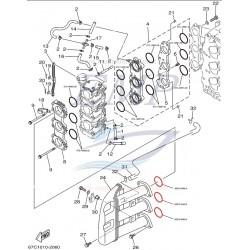 O-ring  filtro aria Yamaha, Selva 93210-34MJ6