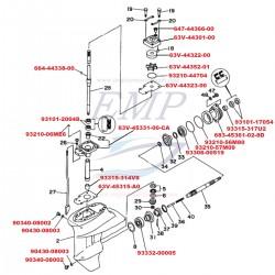 Ricambi Piede F9.9C, F13.5A, F15A Yamaha, Selva